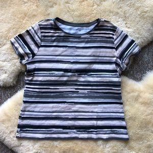 St John's Bay Striped Pattern Tee Shirt